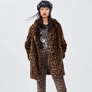 Zara Faux Leopard Jacket